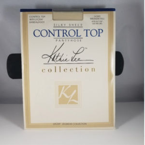 Kathie Lee Control Top Ivory M Tall Pantyhose